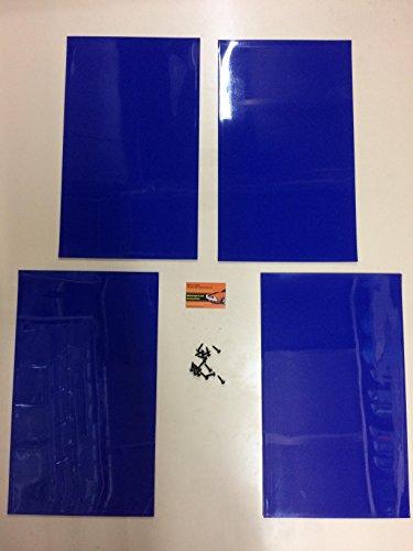 Rally guardabarros azul 500mm x 300mm 3mm PVC–MSA Rally guardabarros