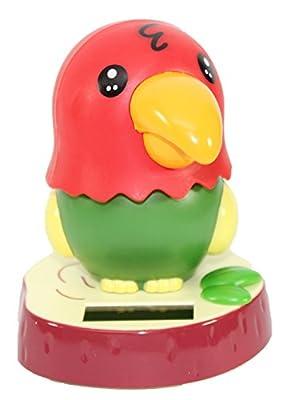 KT Dancing Parrot Bird Solar Toy Car Dashboard Desk Home Decor Birthday Holiday