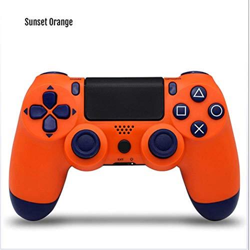 JINSE draadloze gaming-controller, Ps4 Bluetooth 4.0, dubbele kop, joystick Mando gamepad voor gameconsole 4 L Oranje.