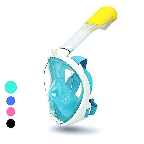 huigou HG Vollgesichtsmaske Schnorchelmaske Anti-Fog Tauchermaske Anti-Leak Vollmaske Profi Technologie Freie Atmung Design mit 180 Grad, für GoPro Erwachsene Schwimmen Tauchen
