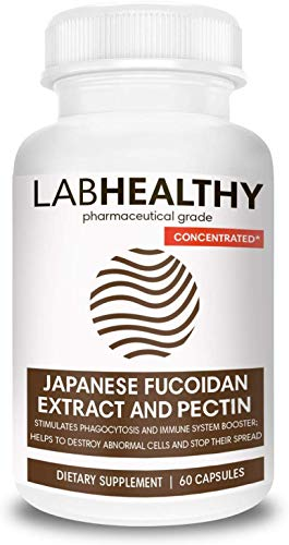 Concentrated FUCOIDAN Made in Japan Extract and Pectin- Immunity Complex, Fucoidan Force, Cell Support Supplement, Brown Seaweed Capsules, Seaweed Supplement,Immune Booster, Max Strength- 60 Capsules