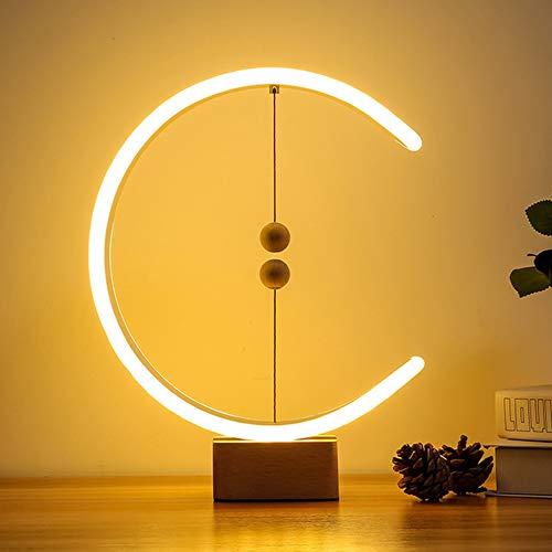 Heng Balance Lampe/Heng Lampe - Ellipse Magnetic Mid-Air Switch USB-betriebene LED-Lampe, 3 Farbtemperatureinstellungen