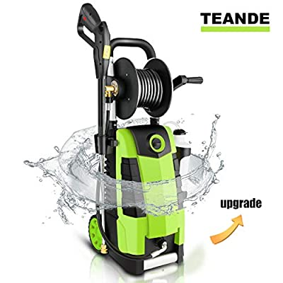 TEANDE 3800PSI Electric Pressure Washer, MAX 2.8GPM Electric Power Washer 1800W High Pressure Washer with Hose Reels MR3800