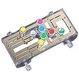 PHLPS Portable Guitar Lernsystem Guitar, mit 9 Universalakkorden (Gold), Gitarre Anfänger EIN-Key-Akkord-Assistent-Lernwerkzeuge, für Gitarre-Lernzubehör
