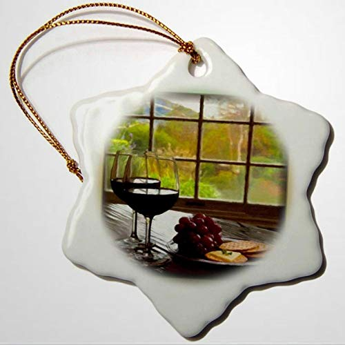 BYRON HOYLE Napa Valley in Painting Snowflake Ornament Porcelain Christmas Ornaments Pandemic Xmas Decor Wedding Ornament Holiday Present