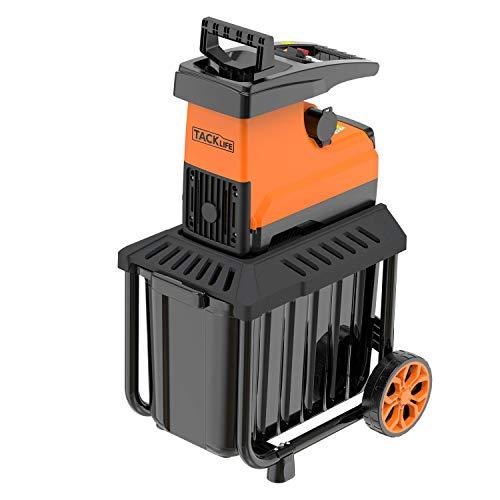 TACKLIFE Gartenhäcksler, 2800W, Elektro Walzenhäcksler mit 60 L robuste Auffangbox, Max. 45mm Aststärke, Ideal für den Heim- und Gartengebrauch, PWS01A