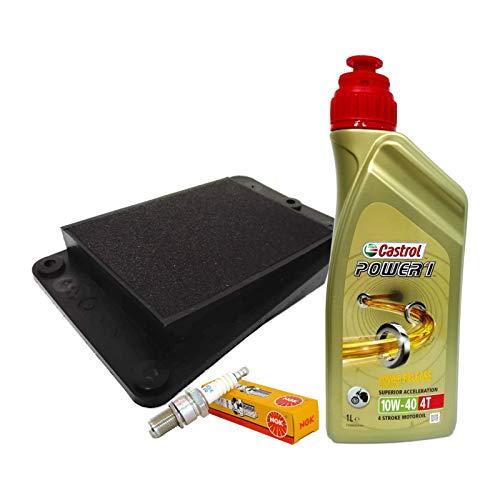 Tecneco Kit Castrol 10 W40 Huile Filtre air bougie sYM joyride 125 150 200
