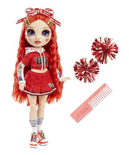 Rainbow High Cheer Fashion Doll - Luxoriöse Outfits, Pompons & Cheerleader Puppe - Ruby Anderson, Rote Fashion Puppe - Rainbow High Cheer Serie - Perfektes Geschenk für Mädchen ab 6 Jahren