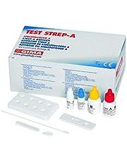 GIMA Tarjeta de prueba de Streptococo A, Rapid Test, tampón Faringeo, uso profesional, 20 cajas