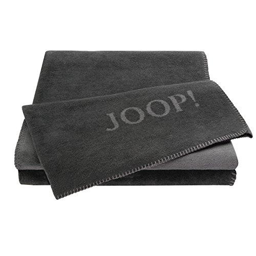 Joop! Wohndecke Uni-Doubleface Baumwollmischung anthrazit/grau Größe 150x200 cm