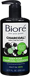Biore Deep Pore Charcoal Face Cleanser Face Wash for Oily Skin, 200 ml
