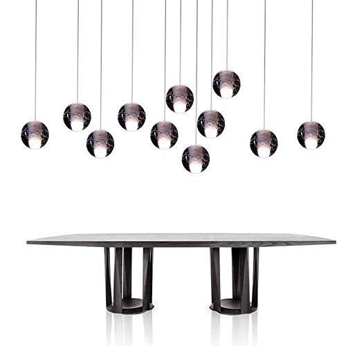 El envío gratis moderno colgante de la luz G4 Bombillas Led Incluidas Cristal Suspensión de la Iluminación de Escaleras de la Sala del Loft de la Lámpara de Luz