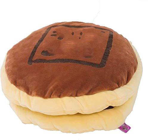 Plüsch Cheeseburger Kissen Flauschiger gefüllter Hamburger Kissen weiche Plüschspielzeug, für Auto-Sofa-Dekoration, schönes Geschenk für Kinder Haustier, Valentines Geburtstagsgeschenk, 36x30cm