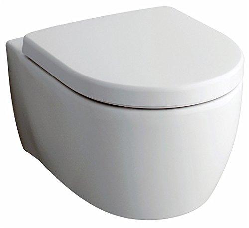 Keramag Tiefspühl-WC ICON; spühlrandlos; wandhängend, verdeckte Befestigung; 6 L, Breite 35,5 cm; Sanitärporzellan, weiß - 204060000