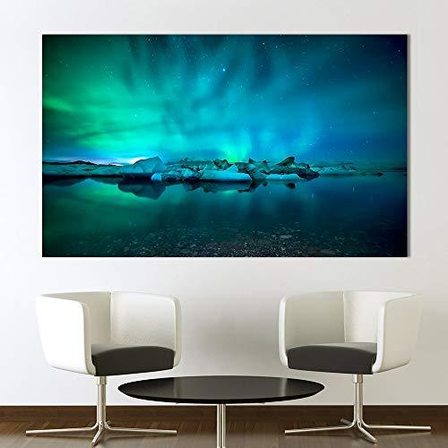 sanzangtang Wandkunstdruck Fotos für das Wohnzimmer nordlicht leinwand malerei Dekoration Fotografie rahmenlose 30x52 cm