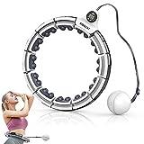 Smart Hula Hoop Für Gewichtsverlust und Fitness, Hoola Hoop mit Massagenoppen und Intelligentes Zählen, Einstellbare Größ Hullahub Reifen für Kinder Erwachsene für Sport/Zuhause/BüRo/Bauchformung
