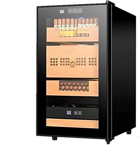 QULONG Étui à Cigarettes Humidor Cabinet Contrôle de l'humidité Contrôle de l'humidité Contrôle électronique de l'humidité Armoire à cigares Boîte décorative