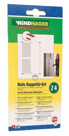 WINDHAGER - Beschlag-Set für Doppeltür-Rollo - Zum Verbinden von 2 Rollos bei Montage als Doppeltür - Z4 - 03824