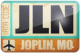 SteelLtd Tin Signs Airportcode JLN Joplin, MO Art Decor 8x12 in. Vintage Industrial Signs Wall Decoration Iron Sign