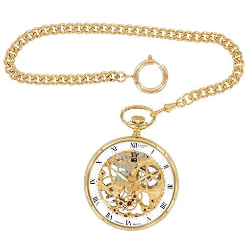 Orologio Laval 1878 e orologio meccanico a scheletro, giallo dorato