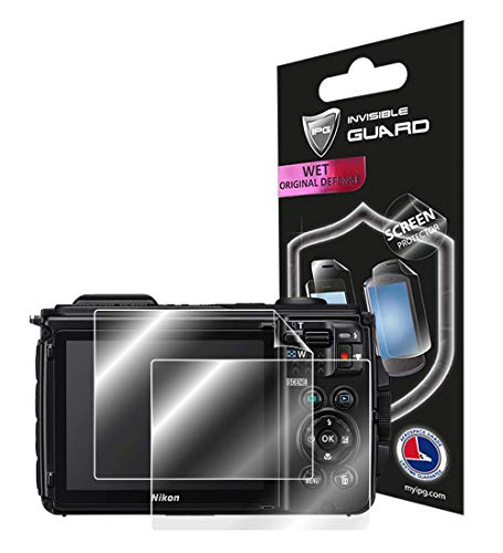 for Nikon COOLPIX W300 (2X) Screen Protector with Lifetime Replacement Warranty Invisible Protective Screen Guard Skin- Smooth/Bubble -Free by IPG