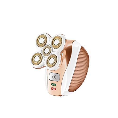 Cuidar a tu familia USB recargable Depiladora de Electirc máquina de afeitar depilación portátil de la herramienta rotatoria de la máquina de afeitar cara de cuerpo de la pierna del bikini de labios U