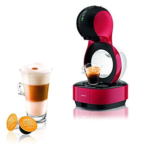 Krups YY3044FD Machine à Café Nescafé Dolce Gusto Lumio Capsules Cafetière Multi Boissons Chaudes Froides Expresso Lungo Thé Chocolat Lait 15 Bars Rouge
