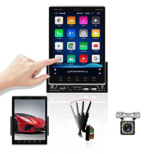 OiLiehu Autoradio Bluetooth Doppio Din, Schermo Verticale da 9,5 pollici Android 9.1 Autoradio Lettore MP5 con WiFi / GPS / FM / MirrorLink / SWC + Videocamera vista posteriore & 1 GB + 16 GB