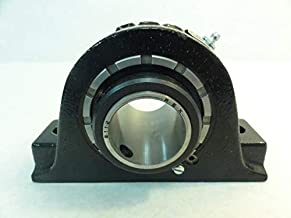 Rexnord MA2112 Spherical Roller Pillow Block Bearing, 2-Bolt, Set Screw Locking Collar, Heavy Contact Seals, Non-Expansion Type, Cast Iron, 1-3/4