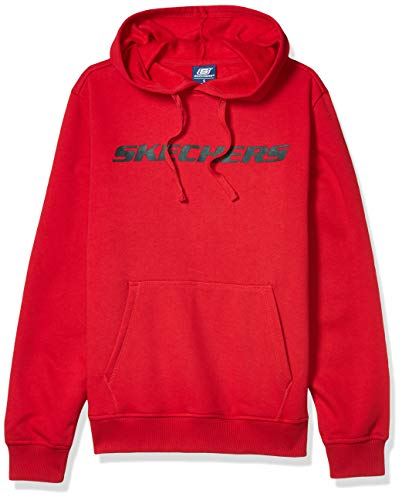 Skechers Heritage Pullover Hoodie Sweatshirt Sudadera, Tango Rojo, M para Hombre