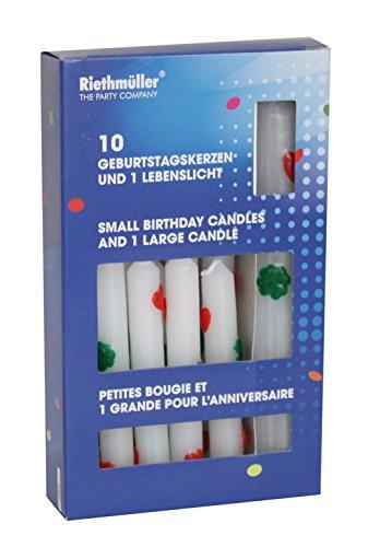 Riethmüller 5057 - 10 Geburtstagskerzen mit Lebenslicht