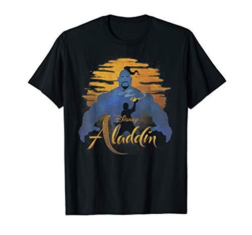 Disney Aladdin Live Action Genie & Aladdin Sunset Silhouette T-Shirt