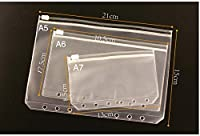 3sizes Transparent PVC Storage Card Bag Zipper Bag for Traveler Notebook Diary Planner Filing Products