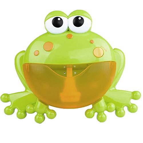 Máquina de burbujas, soplador automático de rana, soplador de burbujas, soplador de música, juguete de baño para niños, fiesta de cumpleaños, boda, juegos en interiores y exteriores