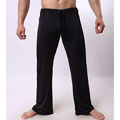 A/X Pantalones de Yoga para Hombre Pantalones con cordón Pantalones de Fondo Secado rápido Ligero Seda de Hielo Yoga Pilates Deportes Alta Elasticidad Suelta