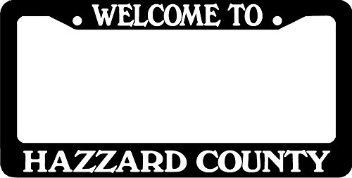 Personalized City Welcome to Hazzard County Dukes of Hazzard General Lee License Plate Frame
