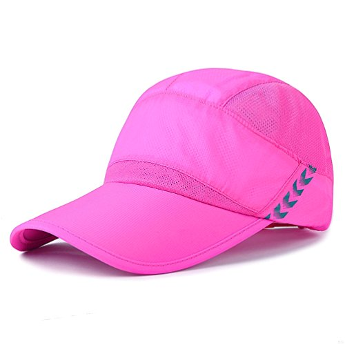 Baseball Cap Quick Dry Lightweight Running Hat Waterproof Breathable of Sun Cap Long Large Bill Sport Caps Cooling Mesh for Unisex Fashion Men and Woman Outdoor Clothes Under 10 20 Hats Rose Red RS89