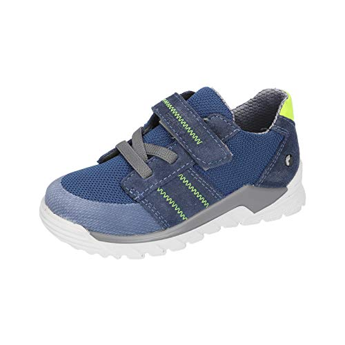 RICOSTA Kinder Low-Top Sneaker Levin, Weite: Mittel (WMS), Klett-Verschluss Halbschuh sportschuh Klettschuh,Reef/Jeans,30 EU / 11.5 Child UK