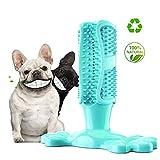 Cepillo de dientes de perro perro del palillo de dientes de limpieza, Puppy Cepillado Dental Care Stick, Stick Dental perro no tóxico caucho natural Bite juguetes para masticar resistentes,Natural