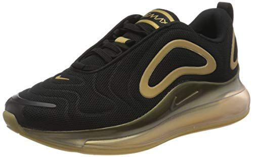 Nike Air Max 720, Scarpe da Corsa Uomo, Black/Metallic Gold-Metallic Silver, 41 EU