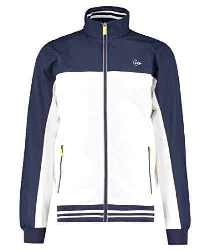 Dunlop Herren, Trainingsjacke Weiß, Dunkelblau, XL Jacken