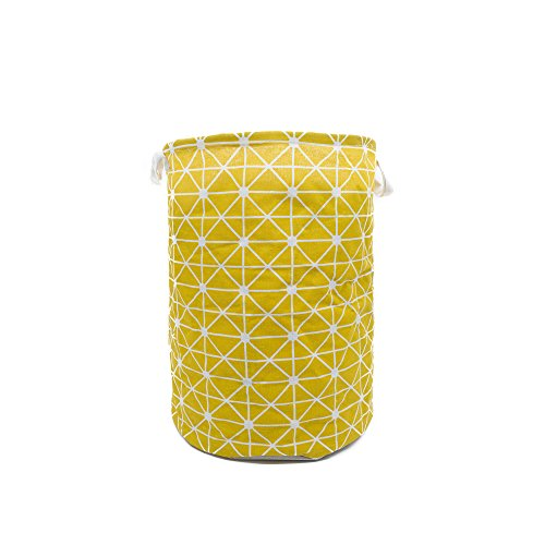 Cesto para la colada amarillo plegable e impermeable