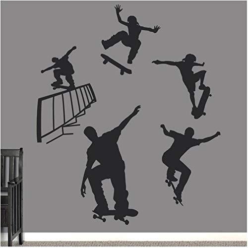 Xxscz Skateboarden Vinyl Muursticker Slaapkamer Set Muurstickers Kwekerij Kinderkamer Moderne Huisdecoratie Woonkamer Art Murals