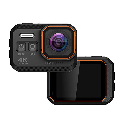 4K/24FPS Wifi Action Camera 16MP Touch Screen IP68 10M Waterproof Sports Camera 170° Wide Angle with 1050Mah Batteries -Flashlight Lighting Support Car Mode/Motion Detection/WDR for Sports,Black