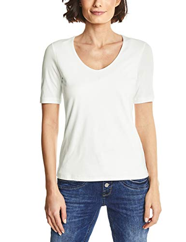 Street One Damen T-Shirt 313104 Palmira, Elfenbein (Off White 10108), 40