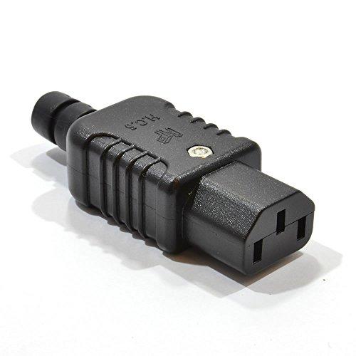 Heavy Duty Rewireable IEC C13 Weiblich Inline Buchse Stecker 10a 250V [C13 Female]