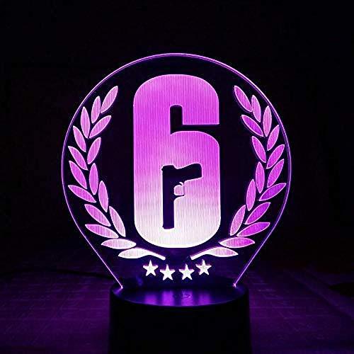 bester Test von rainbow six siege Rainbow Six Siege Tischlampe, Berührungssensor, 7 Farben, Kindergeschenke, FPS-Spiele, Nachtlichter…