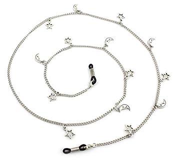 Metal Eyeglass Chains Holder Glasses Holder Sunglass Cord Neck Strap  Silver stars moon