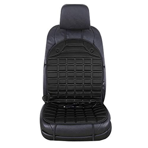 Dibiao Autostoelverwarming met hoge en lage temperatuur, 12 V, zwart/koffie, grijs, voor in de winter of op de autostoel zwart