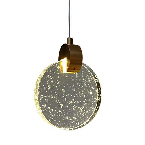 XJJZS Araña de Cristal Moderna y Simple, Mesa de Comedor de Restaurante, lámpara de Cabeza única Creativa Redonda (Size : 13cm)